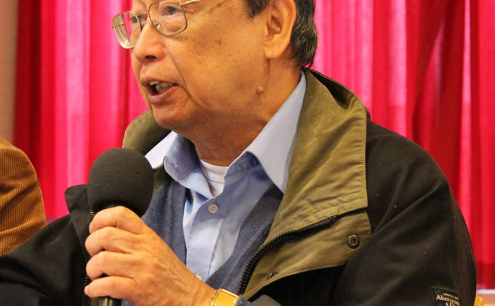 Prof. Jose Maria Sison at the solidarity meeting for the people of Afghanistan, Utrecht, 21 Oct 2012.