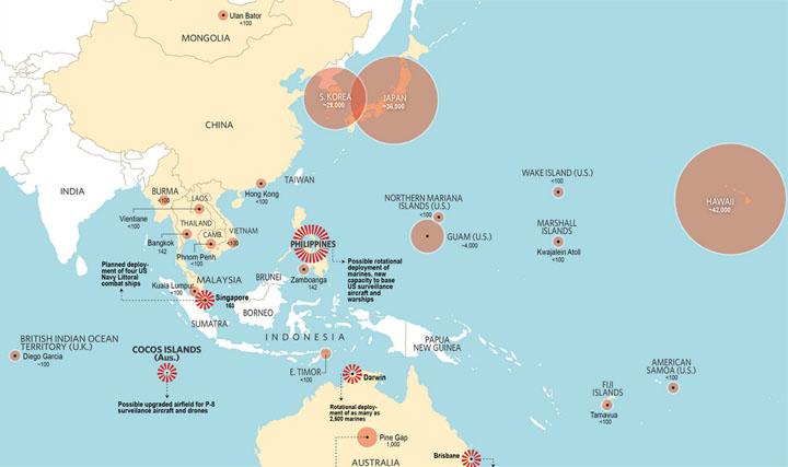 US pivot in Asia-Pacific Region, Image from http://pinoypolitikas.blogspot.nl