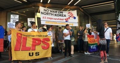 We Support the Peaceful Reunification of Korea, We Demand US Withdrawal and End to the State of War
